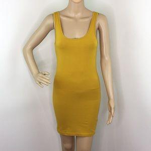 Forever 21 mustard Bodycon dress